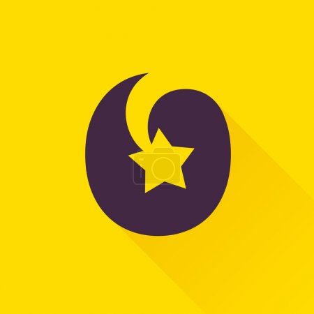 O letter with star.