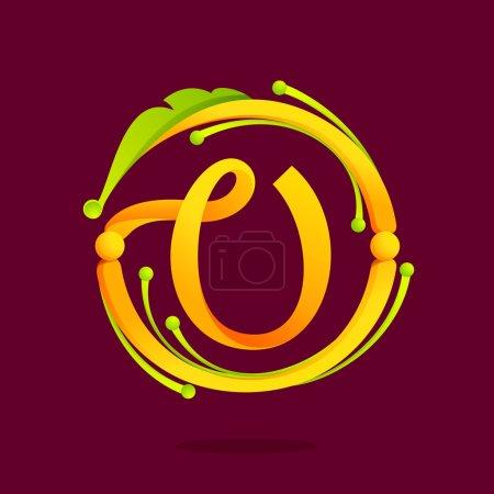 V letter monogram design elements