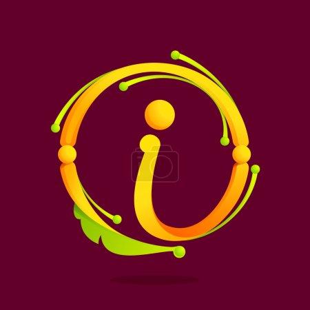I letter monogram design elements