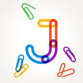 J letter from paper clip alphabet
