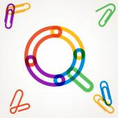 Q letter from paper clip alphabet