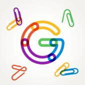 G letter from paper clip alphabet