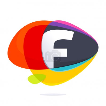 F letter with ellipses intersection logo.