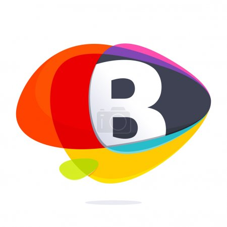 B letter with ellipses intersection logo.
