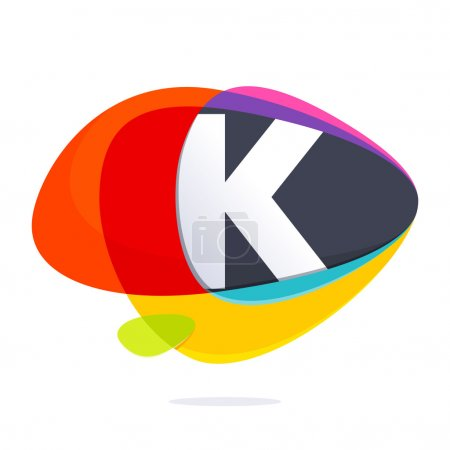 K letter with ellipses intersection logo.