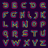 Alphabet formed by electric line