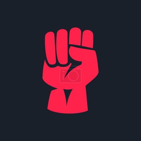 fist  logo design element