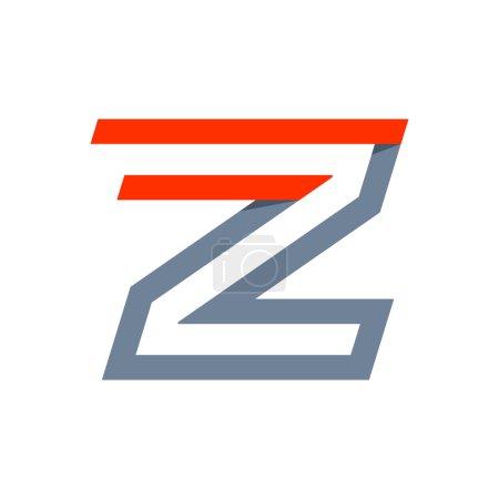 Z letter fast speed logo.