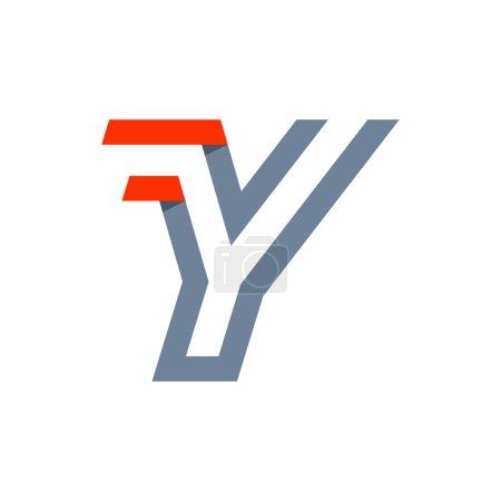 Y letter fast speed logo.