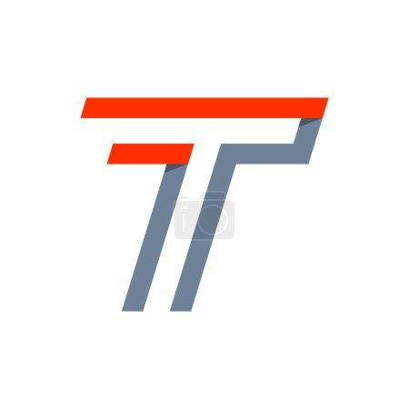 T letter fast speed logo.