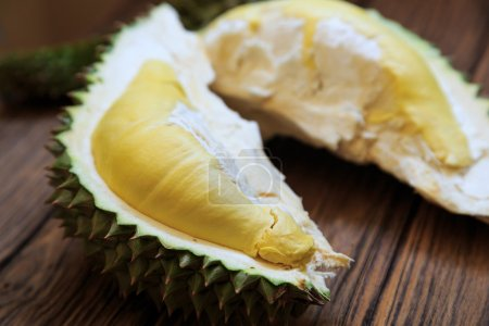 Durian Fruit on wood table