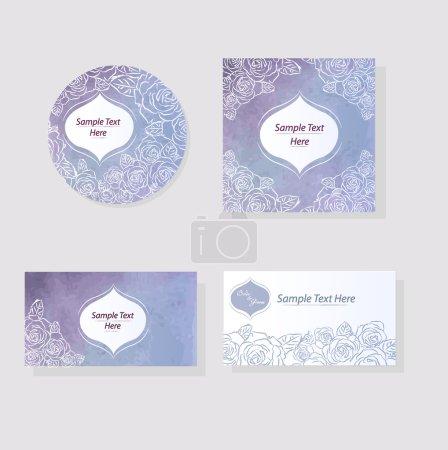 Watercolor texture wedding printing design