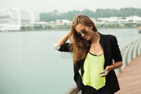 Fashion happy woman