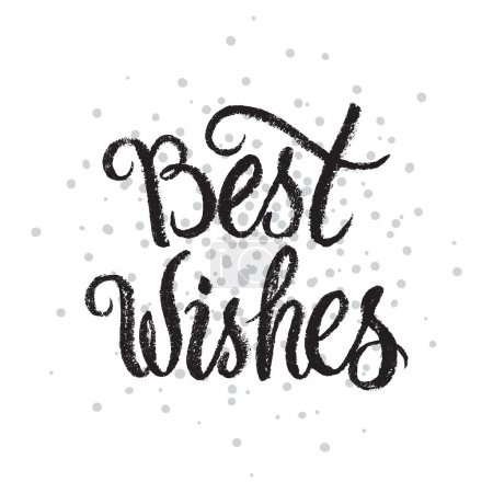 Best Wishes handwritten text on stipple background.