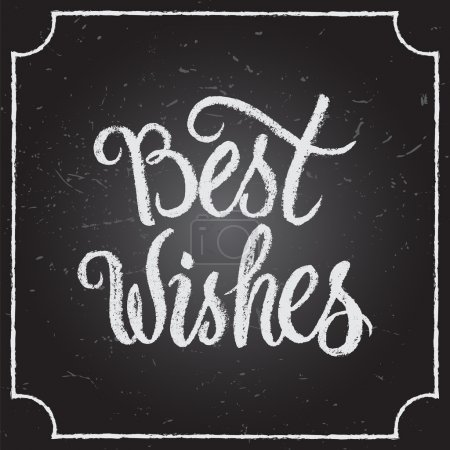Best Wishes calligraphic and typographic background.