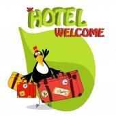 toucan bird greets guests
