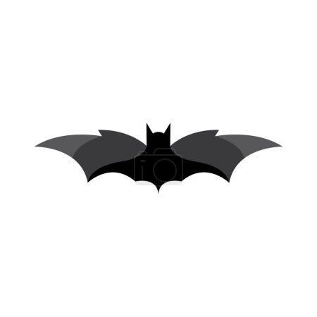 Illustration pour Chauve-souris vectoriel icône logo illustration conception - image libre de droit