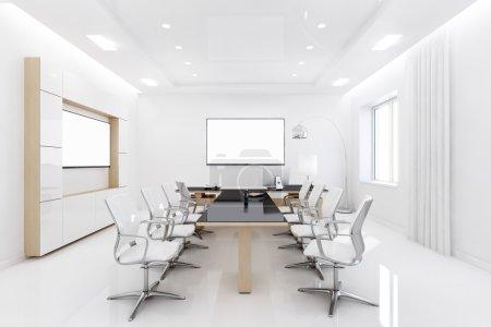 Photo pour Rendu 3D du siège est conçu dans un style simple. Chambre lumineuse et spacieuse ne comporte aucune pièce supplémentaire - image libre de droit