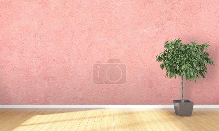 Photo pour Intérieur lumineux avec cadre dans un style moderne. rendu 3D - image libre de droit
