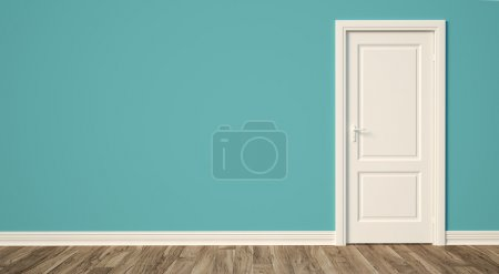 Photo for Render empty room modern interior with door - Royalty Free Image