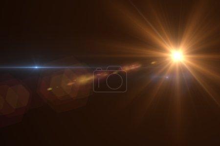 Photo pour Effet fusée éclairante dans l'espace rendu 3D - image libre de droit