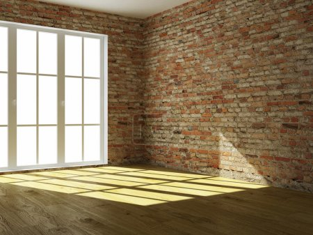 Photo for 3D render empty interior room - Royalty Free Image
