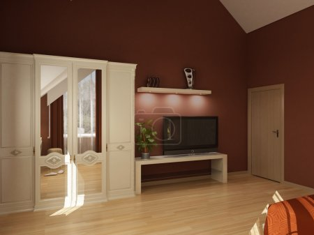 Photo pour Série de design d'intérieur : 3D intérieur - image libre de droit