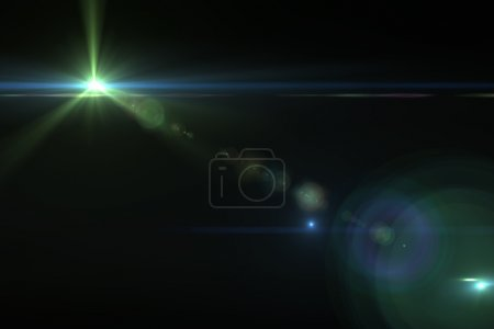 Photo for Lens flare effect in space 3D render - Royalty Free Image