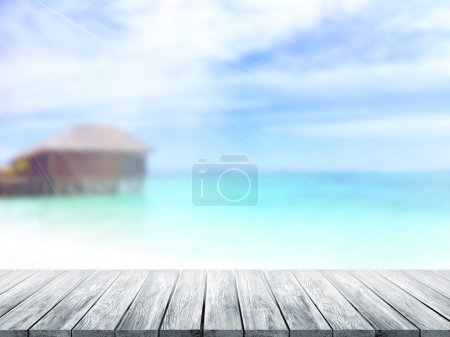 Photo for 3D Rendering  Table Top And Blur nature of Background - Royalty Free Image