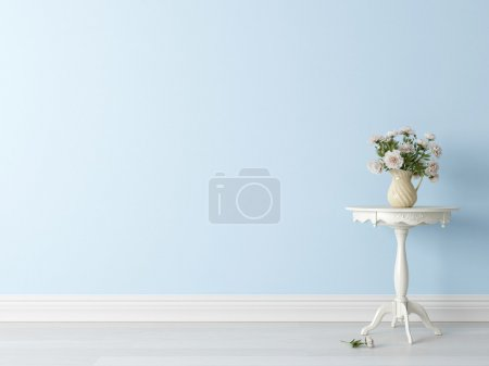 Photo for Modern light interior in the style of Provence 3D render - Royalty Free Image