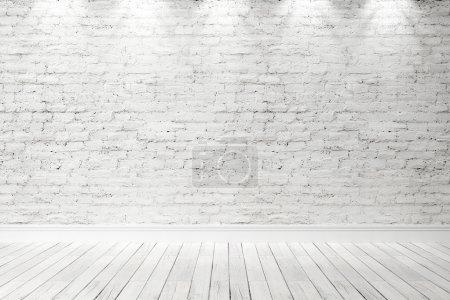 Foto de Vacío interior en un estilo moderno. 3D render - Imagen libre de derechos