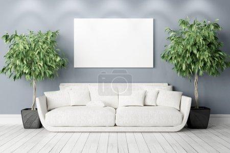 Photo pour Intérieur lumineux dans un style moderne. rendu 3D - image libre de droit