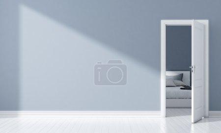 modernes helles Interieur. 3D-Darstellung
