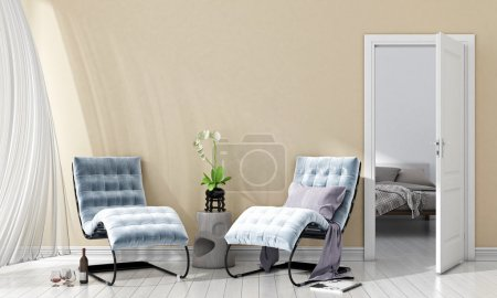 Photo for Bright interior in a modern style . 3D render - Royalty Free Image