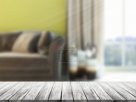 Table Top And Blur Interior