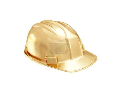 Golden construction helmet