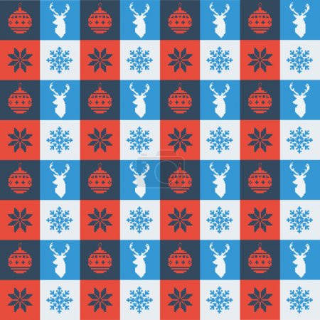 Christmas pattern retro