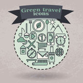 set green icons for travel