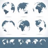 Globes set - illustration