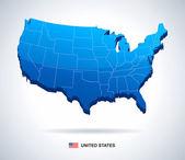 Unite States (USA) - 3D illustration