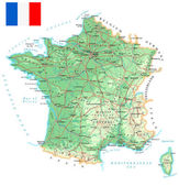 France - detailed topographic map - illustration
