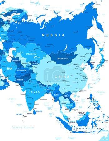 Asia - map - illustration.