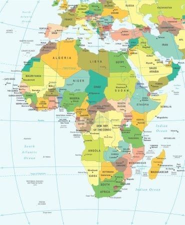Africa - map - illustration.