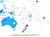 Australia and Oceania - map and navigation icons - illustration
