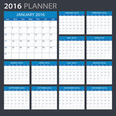 2016 planner - ilustrace