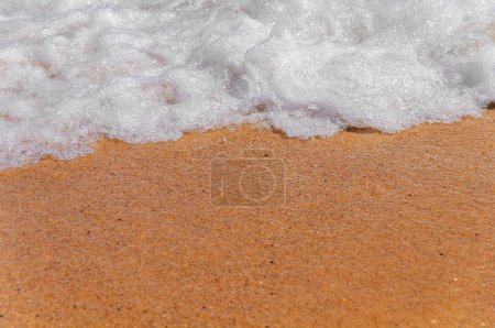 Photo for Wave foamy sea background close - Royalty Free Image