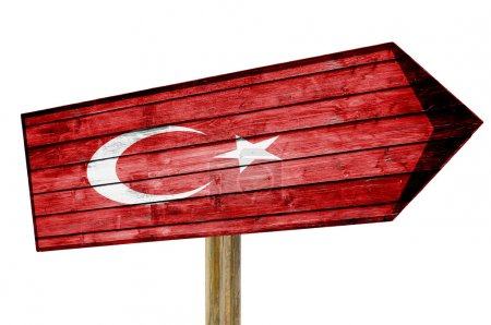 Turkey Flag wooden sign isolated...