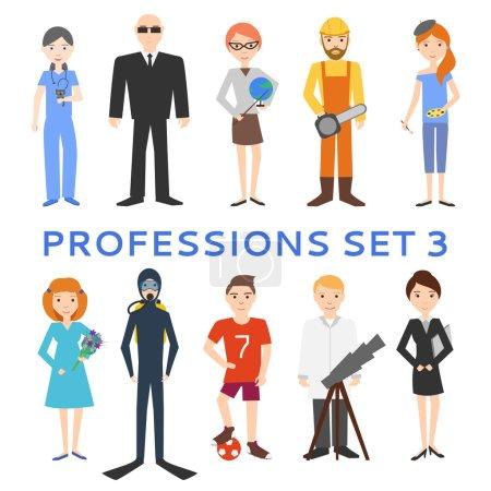 Photo pour Prêt pour la profession. Homme dessin animé isolé sur fond blanc - image libre de droit