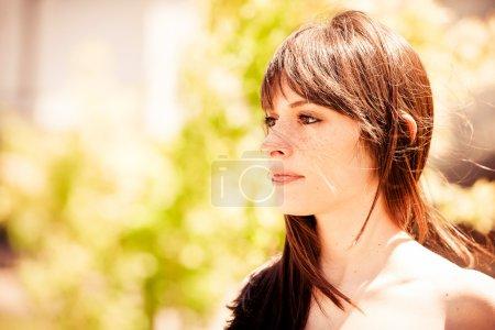 Beautiful sad woman