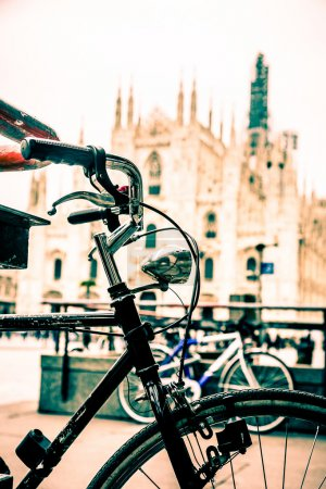 Bicycle in Milan city